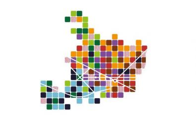 La imatge del programa és una representació esquematitzada del mapa de Barcelona