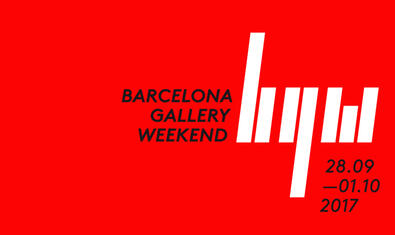 Cartel de la Barcelona Gallery Weekend 2017