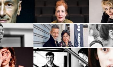 Collage amb imatges d'alguns dels coreògrafs i coreògrafes que col·laboren amb el blog del Mercat