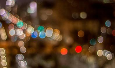 Luces nocturnas en Barcelona