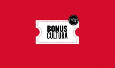 Cartel de la inciativa Bonus Cultura