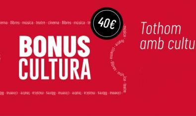 Imatge promocional dels Bonus Cultura