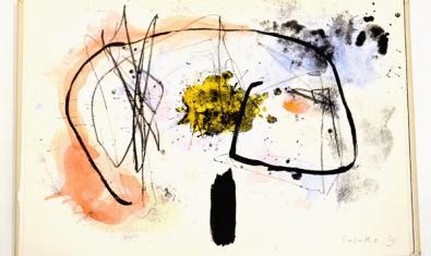 """Una de las litografías de Fusako Yasuda en la obra """"Tri"""""""