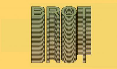 La imatge d'enguany del Brot és una creació gràfica a partir del nom del festival