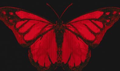 La imagen de una mariposa de un color rojo intenso sirve para anunciar el espectáculo