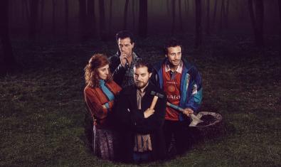 Los cuatro intérpretes de 'La calavera de Connemara'