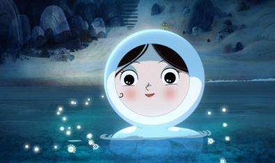 Escena de la pel·lícula amb la nena protagonista