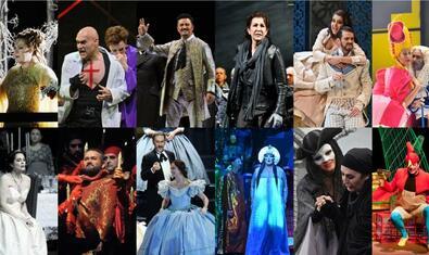 Un collage de diferents òperes que es poden veure en línia gràcies a la iniciativa #ElLiceuaCasa