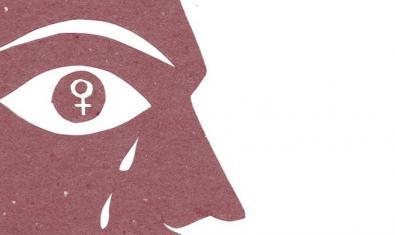 El dibuix d'una cara de perfil amb el símbol femení dins l'ull serveix per anunciar el cicle de xerrades