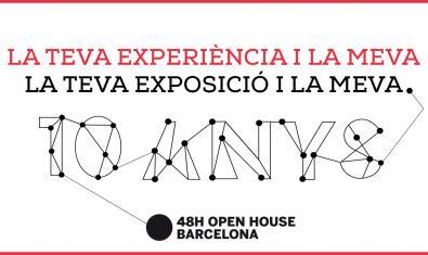 Cartell de l'exposició sobre els deu anys del festival 48h Open House BCN