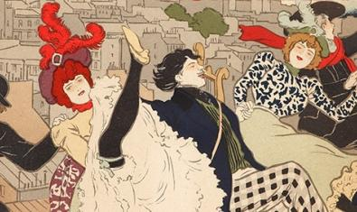 Visión parcial de uno de los famosos carteles de Toulouse-Lautrec
