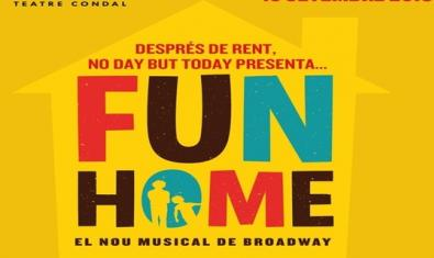 El cartell del musical 'Fun home'