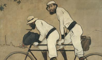 'Ramon Casas i Pere Romeu en un tàndem' presidia el local d'Els Quatre Gats