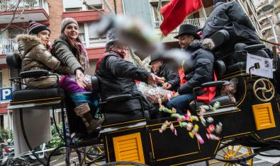 The Tres Tombs cavalcade