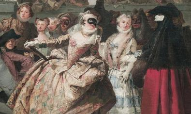 Un fragmento del cuadro 'El minuet', de Giandomenico Tiepolo.