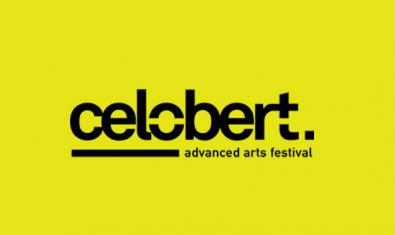 El logotipo que identifica el festiva lCelobert sobre un fondo de color amarillo