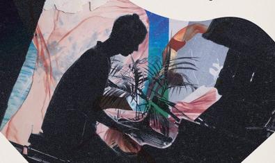 El cartel que anuncia el concierto muestra un collage donde se ve la silueta en sombra del artista tocando el piano