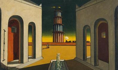 Una de les famoses 'piazze' del pintor Chirico