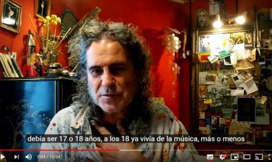 Imatge de l'entrevista al músic i compositor Pepino Pascual