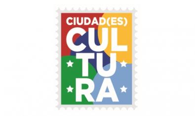 Logotip: un segell amb la inscripció CIUDAD(ES) CULTURA al seu interior