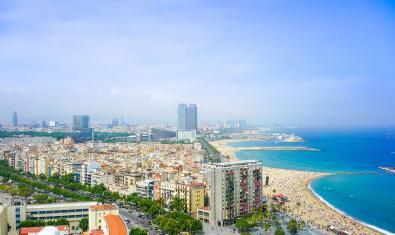 Vistas del litoral de Barcelona