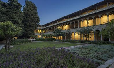 The cloister of the Pedralbes Monastery during the 'magic hour'