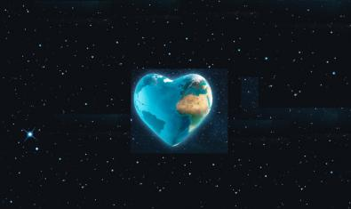 La imatge d'un planeta blau com la Terra però en forma de cor serveix per anunciar la sessió
