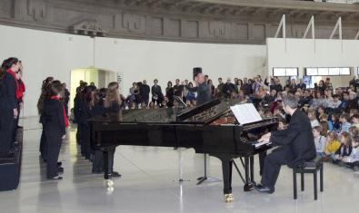 Un moment del concert de Nadal d'ara fa un any protagonitzat per les formacions més joves de l'Orfeó Català