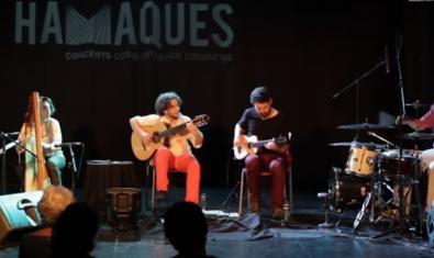Un moment del concert de Pencere Ensamble a Barcelona