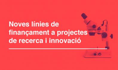 Imatge de les subvencions extraordinàries a projectes de recerca i innovació