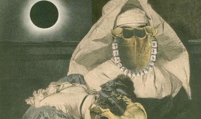 Un dels collages de Cornelius Coffin, amb la imatge alterada d'una monja