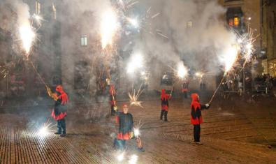 The running fire parade from an earlier edition of the festival