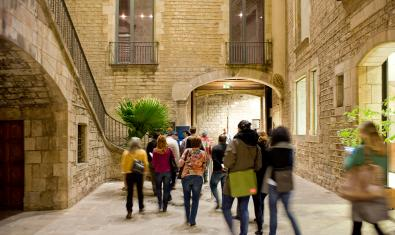 Público durante las visitas guiadas al Museu Picasso