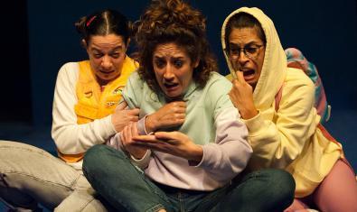 Les tres protagonistes de la funció.