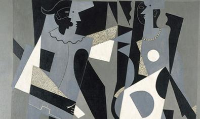 'Arlequí i dona amb collaret', de Picasso, és una de les teles presents a la mostra
