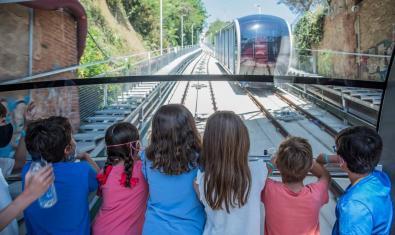 La llegada del Funicular del Tibidabo.