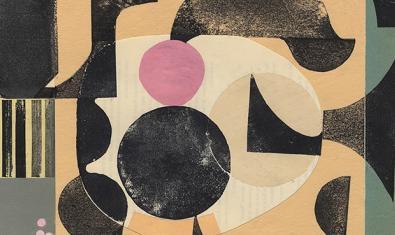 Un dels collages de formes geomètriques de l'artista
