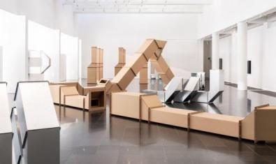 Vista de les sales on es fa l'exposició en una fotografia de Miquel Coll