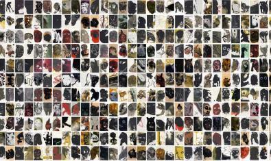 Un gran collage format pels milers de petites imatges que formen l'exposició