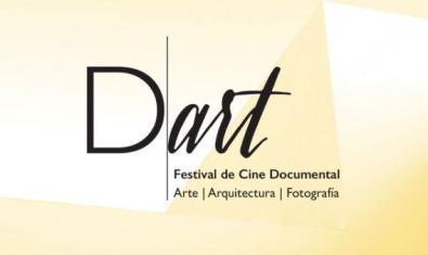 El logo de Dart Festival de color blanc i taronja.
