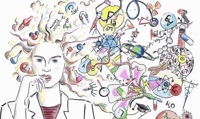 Imatge del Dia de la Dona i la Nena en la Ciència