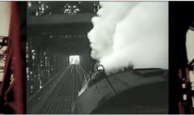 Un dels fotogrames de 'Different Trains'