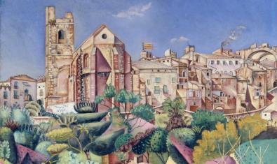 'Mont-roig, l'església i el poble' es una de las pinturas de Joan Miró que encontraréis en el catálogo de la Fundació