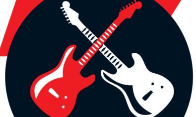 El dibujo de dos guitarras cruzadas una blanca y otra roja sirve de imagen para el concurso