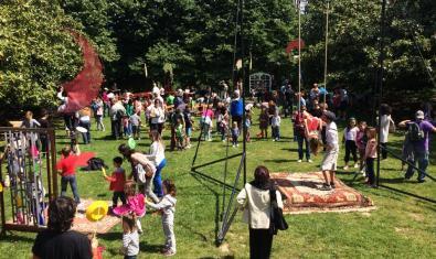 Fotografia del taller de circ de Los Herrerita