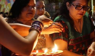La comunitat índia de Barcelona en una celebració recent