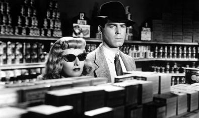 A still photo from Billy Wilder's 'Double Indemnity'