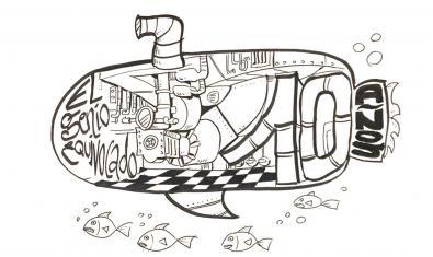 El dibuix d'un submarí serveix per anunciar els concerts d'aniversari del segell discogràfic
