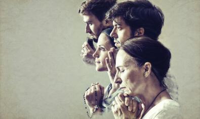 Los cuatro intérpretes de la obra