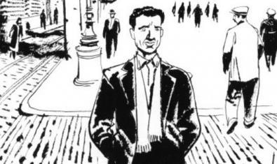 Una de les il·lustracions sobre Miguel Núñez que formen part de l'exposició